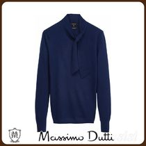 MassimoDutti♪SWEATER WITH BOW DETAIL ON THE NECK
