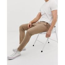 ASOS DESIGN 2 pack skinny chinos in navy & stone s