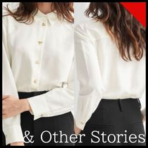 ☆& Other Stories☆ Relaxed Bee Button Shirt ホワイト☆