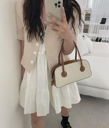 MARGE SHERWOOD トートバッグ 500円追加割引[Margesherwood]/21SS BESSETTE TOTE/ BROWN(6)