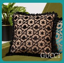 <関税・送料込み>Gucci GG-jacquard velvet cushion (Black)