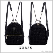 【Guess】Cessily Velvet Backpack ロゴ コンパクト キラキラ
