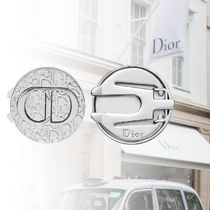 DIOR Dior Oblique Button Cover -Silver-Finish Brass
