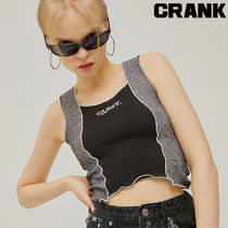 ★CRANK★COLOR WAVE SLEEVELESS_BK★正規品/韓国直送料込