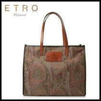 ETRO(エトロ) トートバッグ ☆ETRO☆正規品 ペイズリー トートバッグ (BROWN)