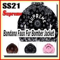 1 week SS 21 Supreme Bandana Faux Fur Bomber Jacket