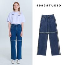 【1993studio】straight cutting denim pants デニム