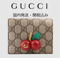 【Gucci】チェリーGGスプリーム  カードケース card case wallet