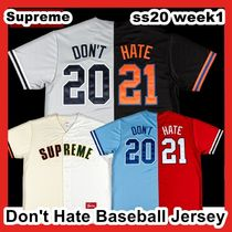 Supreme Don't Hate Baseball Jersey SS 21 WEEK 1 2021