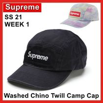 Supreme Washed Chino Twill Camp Cap SS 21 WEEK 1 2021