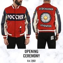 OPENING CEREMONY(オープニングセレモニー) ジャケットその他 【OPENING CEREMONY】BOMBER RUSSIA WITH LEATHER SLEEVES