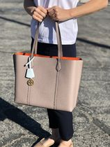 TORY BURCH ★PERRY TRIPLE-COMPARTMENT TOTE BAG in Gray Heron