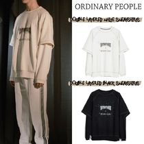 ORDINARY PEOPLE(オーディナリーピープル) スウェット・トレーナー ORDINARY PEOPLE - DOUBLE LAYERED WHITE SWEATSHIRTS (2color)