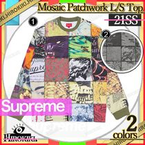 21SS /Supreme Mosaic Patchwork L/S Top Tee パッチワーク