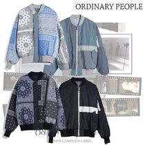 ORDINARY PEOPLE(オーディナリーピープル) ジャケットその他 ORDINARY PEOPLE - ORDINARY REVERSIBLE COLOR BLOCK MA1
