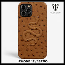 ★関送込★THE CASE FACTORY★iPhone 12/12 Pro*SNAKE*OSTRICH