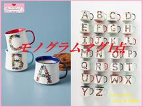 関送込【Anthro】Nathalie Lete Bouquet Monogram Mug 1点