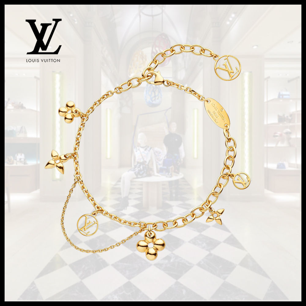 Louis Vuitton(ルイヴィトン)BLOOMING SUPPLE BRACELET Gold (Louis Vuitton/ブレスレット) M64858