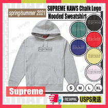 【21SS】SUPREME Kaws Chalk Logo Hooded Sweatshirt