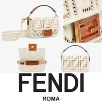 FENDI【入手困難】可愛いMiniサイズ BAGUETTE CANVAS/EMBROIDERY