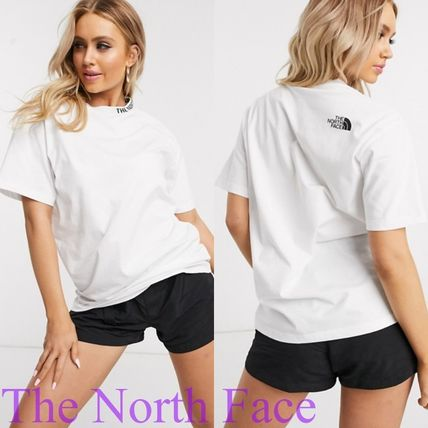 THE NORTH FACE Tシャツ・カットソー THE NORTH FACE★ネックロゴ Tシャツ ホワイト 送関込