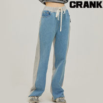 ★CRANK★DENIM TRAINING PANTS_BL★正規品★韓国直送料込