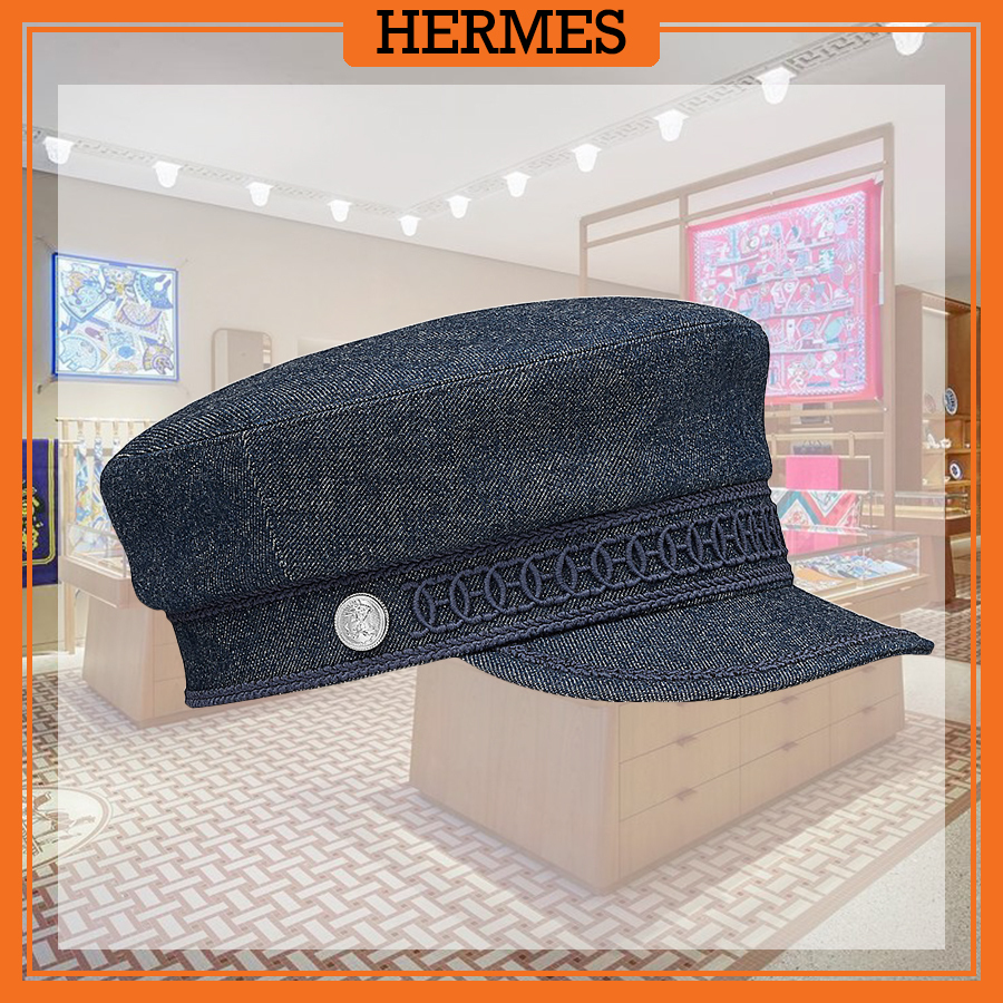 【HERMES 人気】エルメス Casquette Cabourg カブールキャップ (HERMES/キャップ) 65155139