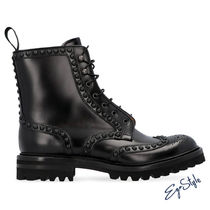 ELETTRA LEATHER COMBAT BOOTS