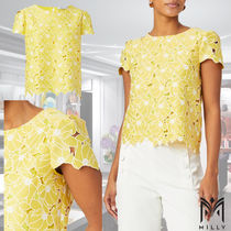 Milly(ミリー) トップスその他 安心国内発送 トップス TROPICAL LILY EMBROIDERY BABY T TOP
