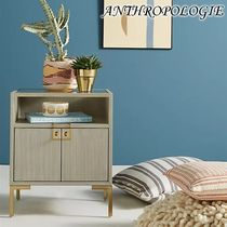 お洒落★ANTHROPOLOGIE★Ingram Glass Top Nightstand