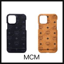 【MCM】iPhone12/12 Pro Case in Visetos Original 2色 黒 茶