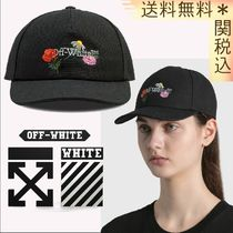 【OFF-WHITE】 EMBROIDERED CANVAS BASEBALL CAP