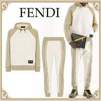 FENDI☆ Men's Beige Cotton Sweatshirt and Pants セットアップ