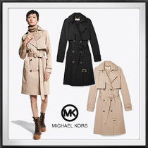 【Michael Kors】Cotton Blend Trench Coat