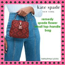 KATE SPADE*remedy spade flower jaquard  small top handle R