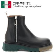 Off-white sponge sole zip boots