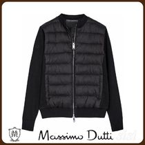 MassimoDutti♪PUFFER JACKET WITH CONTRAST KNIT SLEEVES
