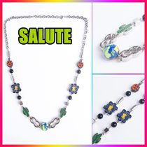 SALUTE(サルーテ) ネックレス・チョーカー 【SALUTE】3D EARTH COLOR CACTUS MULTI CHARMS NECKLACE
