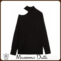 MassimoDutti♪WOOL SWEATER WITH ASYMMETRIC SHOULDER