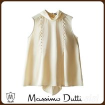 MassimoDutti♪TOP WITH TIED BOW AND BUTTONS