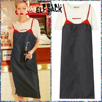 可愛い♪ ☆ELFSACK☆ Tshirt And Sleeveless Dress O-Neck