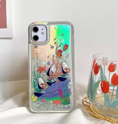 iPHONE専用[HIGH CHEEKS]Oysters Under the Sea Glitter Case