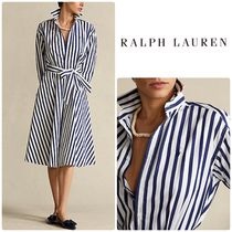 Ralph Lauren Striped Cotton シャツワンピース