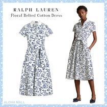 【Ralph Lauren】Floral Belted Cotton Dress♪花柄ワンピース♪