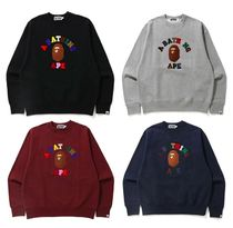 A BATHING APE★送料込み★COLLEGE APPLIQUE RELAXED スウェット