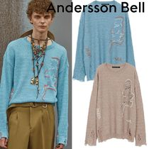 ANDERSSON BELL(アンダースンベル) ニット・セーター ★ANDERSSON BELL★UNISEX LINEN EMBROIDERY FACE SWEATER