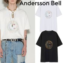 ★ANDERSSON BELL★UNISEX SMILE EARTH EMBROIDERY T-SHIRT