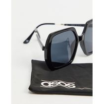 ASOS DESIGN recycled frame oversized 70s sunglasse