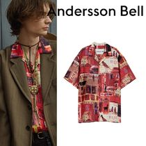 ★ANDERSSON BELL★BUENO RED OPEN COLLAR SHIRT