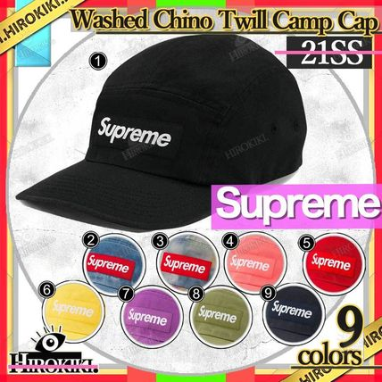 21SS /Supreme Washed Chino Twill Camp Cap チノ キャップ